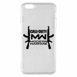 Чехол для iPhone 6 Plus/6S Plus Call of debt MW logo and Kalashnikov