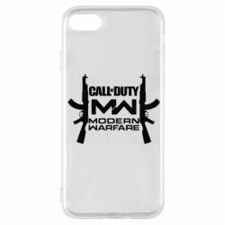 Чехол для iPhone 7 Call of debt MW logo and Kalashnikov