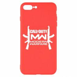 Чехол для iPhone 7 Plus Call of debt MW logo and Kalashnikov