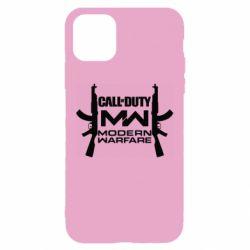 Чехол для iPhone 11 Call of debt MW logo and Kalashnikov