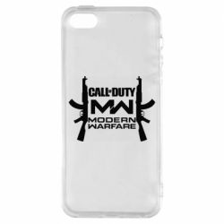 Чехол для iPhone5/5S/SE Call of debt MW logo and Kalashnikov