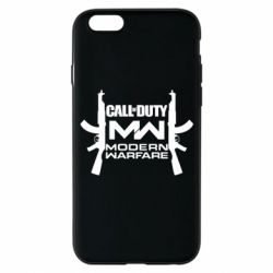 Чехол для iPhone 6/6S Call of debt MW logo and Kalashnikov