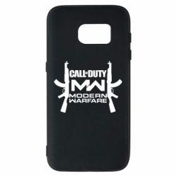 Чехол для Samsung S7 Call of debt MW logo and Kalashnikov