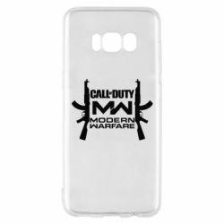 Чехол для Samsung S8 Call of debt MW logo and Kalashnikov