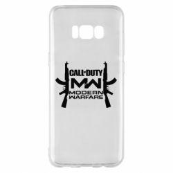 Чехол для Samsung S8+ Call of debt MW logo and Kalashnikov
