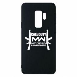 Чехол для Samsung S9+ Call of debt MW logo and Kalashnikov