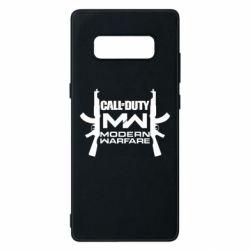 Чехол для Samsung Note 8 Call of debt MW logo and Kalashnikov