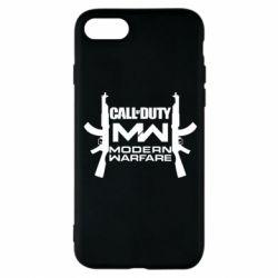 Чехол для iPhone 8 Call of debt MW logo and Kalashnikov