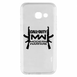 Чехол для Samsung A3 2017 Call of debt MW logo and Kalashnikov