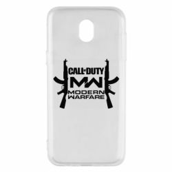 Чехол для Samsung J5 2017 Call of debt MW logo and Kalashnikov
