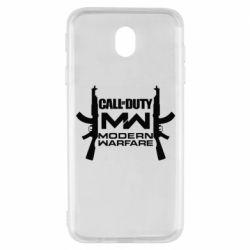 Чехол для Samsung J7 2017 Call of debt MW logo and Kalashnikov