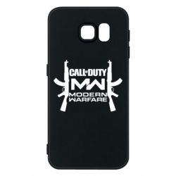 Чехол для Samsung S6 Call of debt MW logo and Kalashnikov