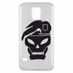 Чехол для Samsung S5 Call of Duty Black Ops logo - FatLine
