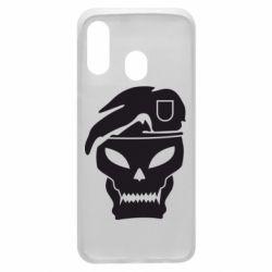 Чехол для Samsung A40 Call of Duty Black Ops logo