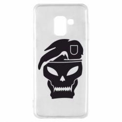Чехол для Samsung A8 2018 Call of Duty Black Ops logo