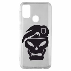 Чехол для Samsung M30s Call of Duty Black Ops logo