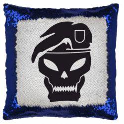 Подушка-хамелеон Call of Duty Black Ops logo