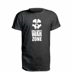 Подовжена футболка Call of duty Ghost face