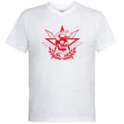 Чоловіча футболка з V-подібним вирізом Call of Duty cranium