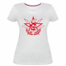 Жіноча стрейчева футболка Call of Duty cranium