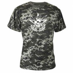Камуфляжная футболка Call of Duty cranium