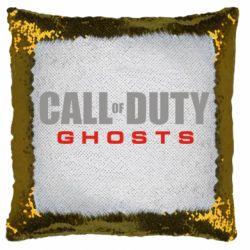 Подушка-хамелеон Call of Duty Ghosts логотип