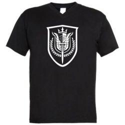 Чоловіча футболка з V-подібним вирізом Call of Duty logo with shield