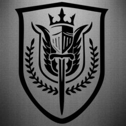 Наклейка Call of Duty logo with shield