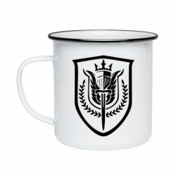 Кружка емальована Call of Duty logo with shield