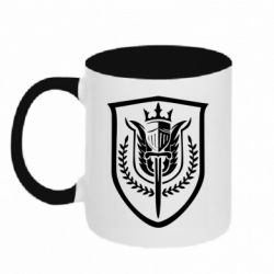 Кружка двоколірна 320ml Call of Duty logo with shield
