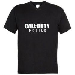 Мужская футболка  с V-образным вырезом Call of Duty Mobile
