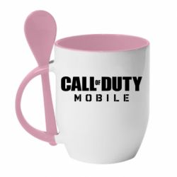 Кружка с керамической ложкой Call of Duty Mobile