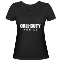Женская футболка с V-образным вырезом Call of Duty Mobile