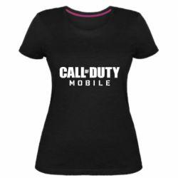 Женская стрейчевая футболка Call of Duty Mobile