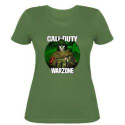 Жіноча футболка Call of duty Warzone ghost green background