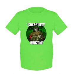 Дитяча футболка Call of duty Warzone ghost green background