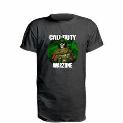 Подовжена футболка Call of duty Warzone ghost green background
