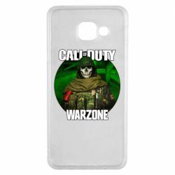 Чохол для Samsung A3 2016 Call of duty Warzone ghost green background