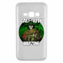 Чохол для Samsung J1 2016 Call of duty Warzone ghost green background