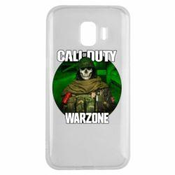 Чохол для Samsung J2 2018 Call of duty Warzone ghost green background