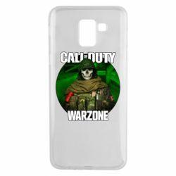 Чохол для Samsung J6 Call of duty Warzone ghost green background