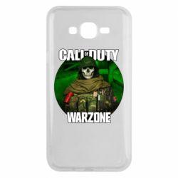 Чохол для Samsung J7 2015 Call of duty Warzone ghost green background