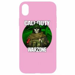 Чохол для iPhone XR Call of duty Warzone ghost green background