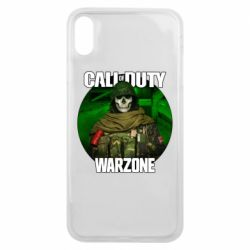 Чохол для iPhone Xs Max Call of duty Warzone ghost green background