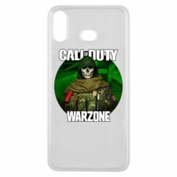 Чохол для Samsung A6s Call of duty Warzone ghost green background