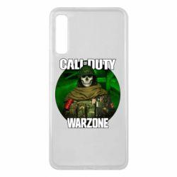 Чохол для Samsung A7 2018 Call of duty Warzone ghost green background