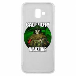 Чохол для Samsung J6 Plus 2018 Call of duty Warzone ghost green background