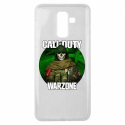 Чохол для Samsung J8 2018 Call of duty Warzone ghost green background