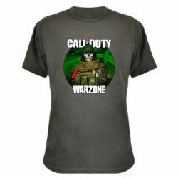 Камуфляжна футболка Call of duty Warzone ghost green background