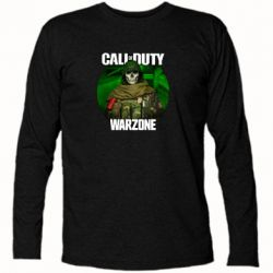 Футболка з довгим рукавом Call of duty Warzone ghost green background